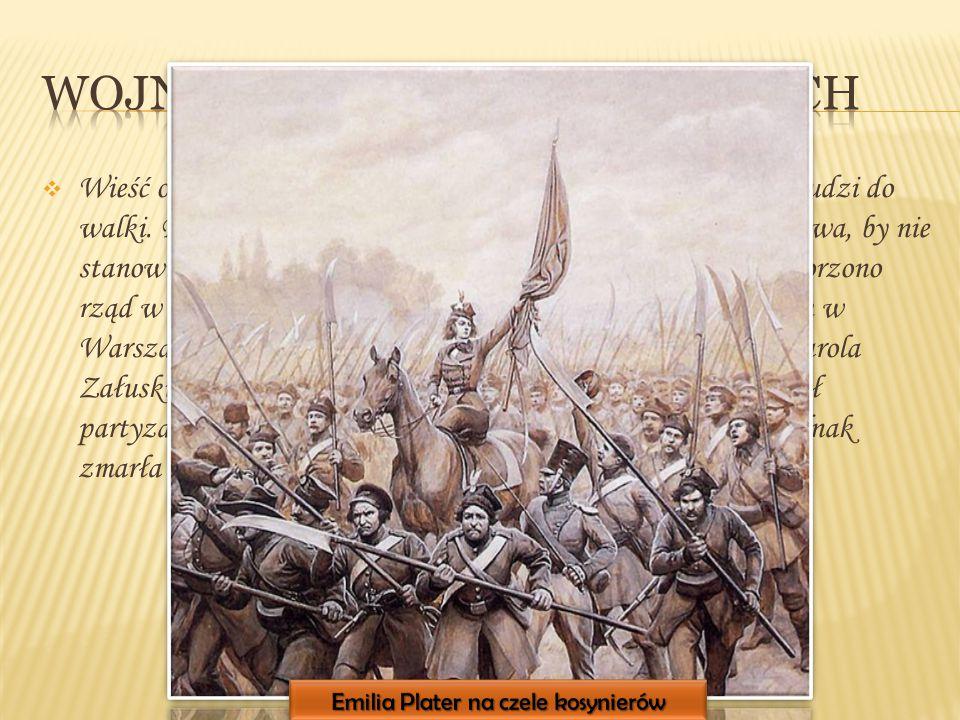 WWieść o spisku w Warszawie dotarła na wschód i pobudziła ludzi do walki. Rosjanie postanowili odciąć Ziemie Zabrane od Królestwa, by nie stanowiły