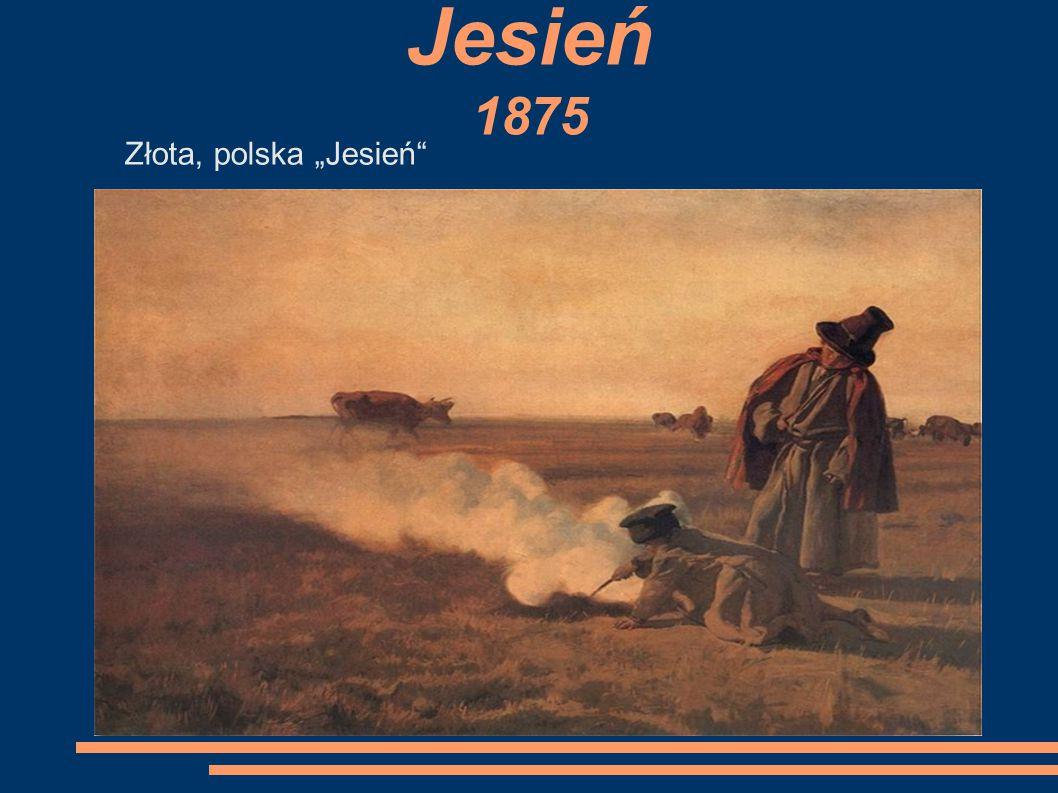 """Jesień 1875 Złota, polska """"Jesień"""