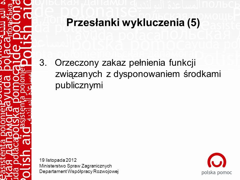 Przesłanki wykluczenia (5) 3.
