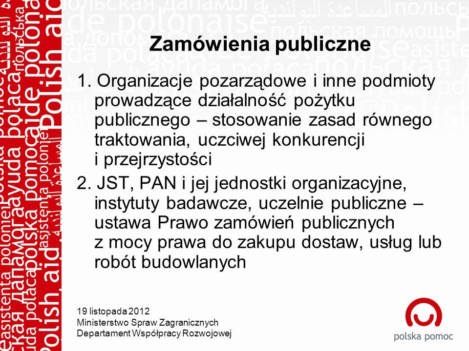 Zamówienia publiczne 1.
