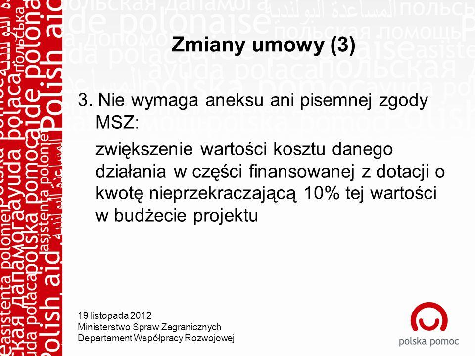 Zmiany umowy (3) 3.