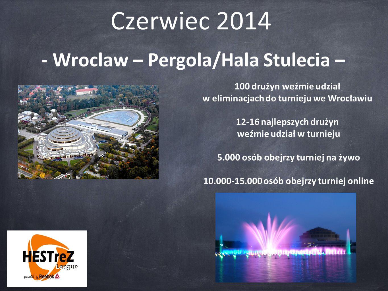 Czerwiec 2014 - Wroclaw – Pergola/Hala Stulecia – 100 drużyn weźmie udział w eliminacjach do turnieju we Wrocławiu 12-16 najlepszych drużyn weźmie udz
