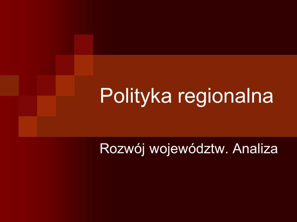 Polityka regionalna Rozwój województw. Analiza
