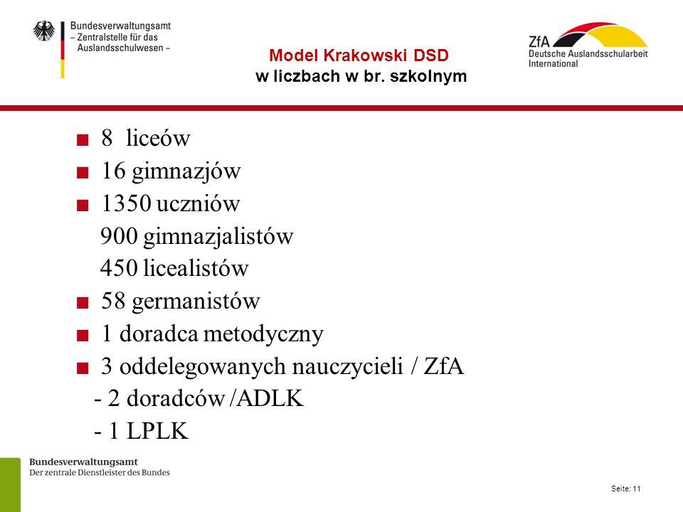 Seite: 11 Model Krakowski DSD w liczbach w br.