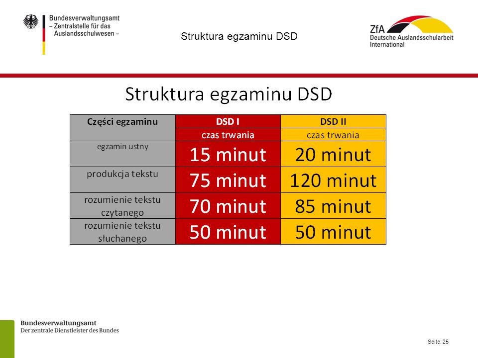 Seite: 25 Struktura egzaminu DSD