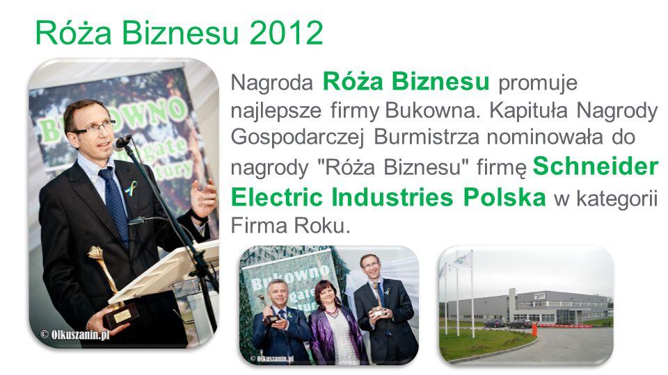 Róża Biznesu 2012 Nagroda Róża Biznesu promuje najlepsze firmy Bukowna. Kapituła Nagrody Gospodarczej Burmistrza nominowała do nagrody