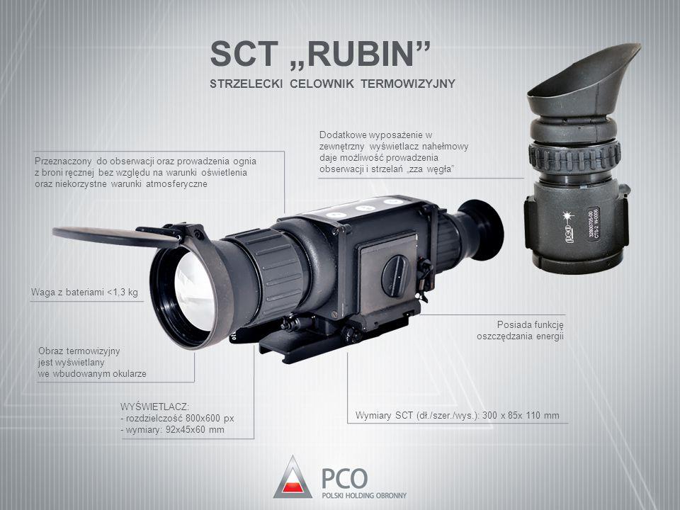 """SCT """"RUBIN"""" STRZELECKI CELOWNIK TERMOWIZYJNY Dodatkowe wyposażenie w zewnętrzny wyświetlacz nahełmowy daje możliwość prowadzenia obserwacji i strzelań"""