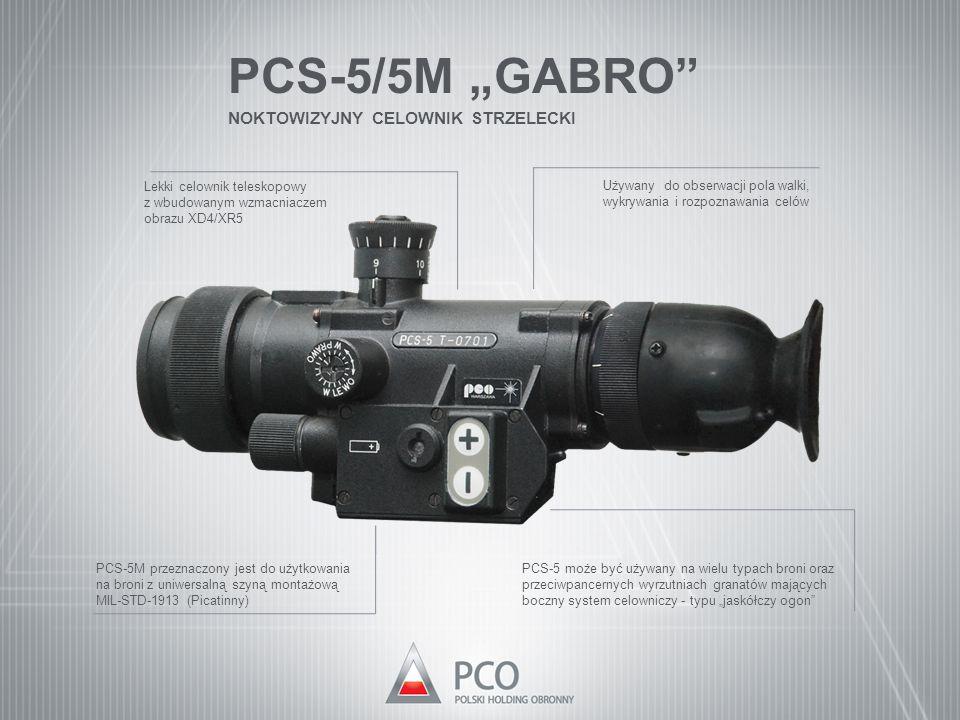 """PCS-5/5M """"GABRO"""" NOKTOWIZYJNY CELOWNIK STRZELECKI Używany do obserwacji pola walki, wykrywania i rozpoznawania celów Lekki celownik teleskopowy z wbud"""