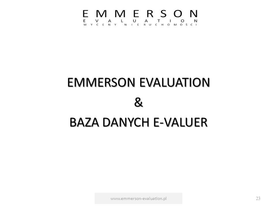 EMMERSON EVALUATION & BAZA DANYCH E-VALUER www.emmerson-evaluation.pl23