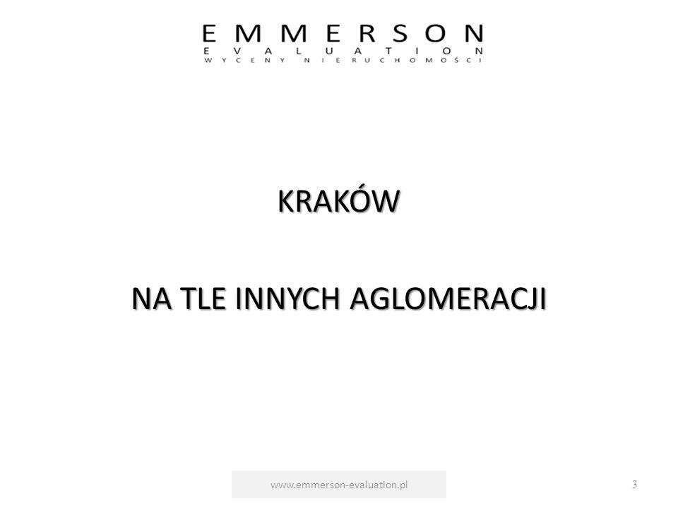 KRAKÓW NA TLE INNYCH AGLOMERACJI www.emmerson-evaluation.pl3