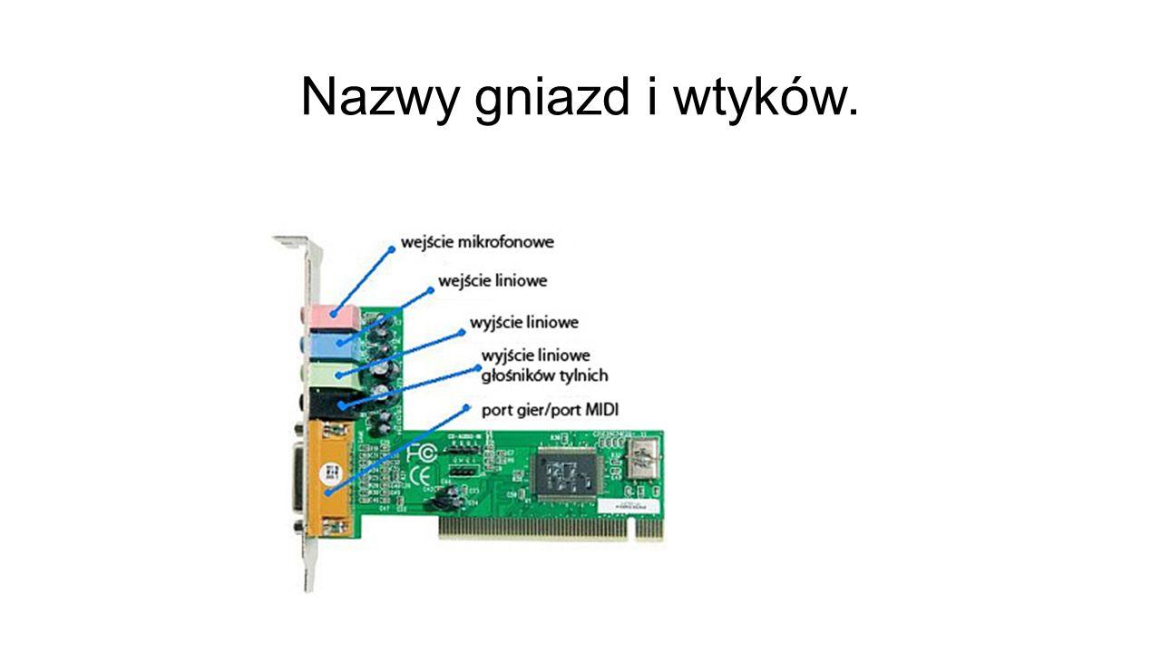 Zródło: pl.wikipedia.org/wiki/Karta_dźwiękowa www.google.pl http://www.kylo1.ovh.org/work/1.php?a=lisek&b=2&s=l http://www.benchmark.pl/testy_i_recenzje/Dzwiek_z_komputera-675/strona/1306.html