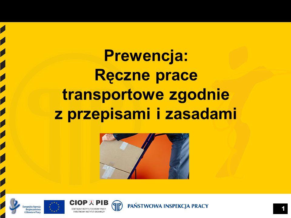 1 Prewencja: Ręczne prace transportowe zgodnie z przepisami i zasadami