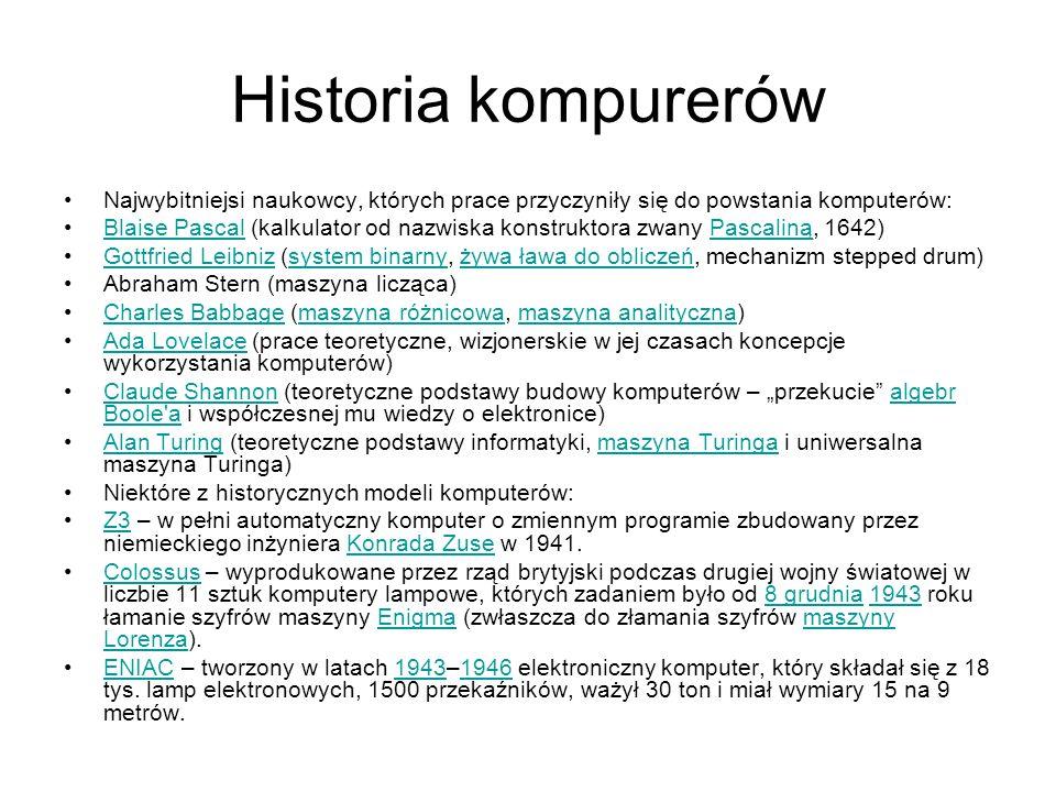 Polskie komputery cyfrowe: K-202, PRS- 4, XYZ, ZAM, UMC, Odra, Mera 300, Mera 400, Poltype, R32, Mazovia, Meritum, Elwr o 800 Junior, ComPAN 8, Menopc 900K-202PRS- 4XYZZAMUMCOdraMera 300Mera 400PoltypeR32MazoviaMeritumElwr o 800 JuniorComPAN 8Menopc 900 analogowe: ELWAT, AKAT-1, ARRanalogoweELWATAKAT-1ARR