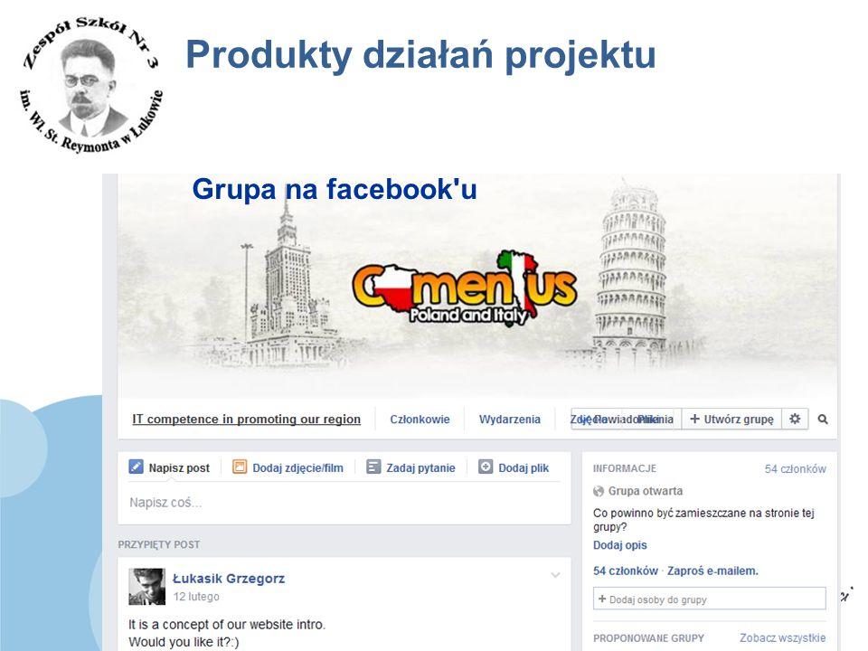www.zs3.lukow.pl Company LOGO Produkty działań projektu Grupa na facebook'u