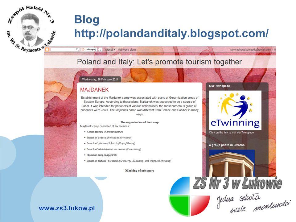 www.zs3.lukow.pl Company LOGO Blog http://polandanditaly.blogspot.com/