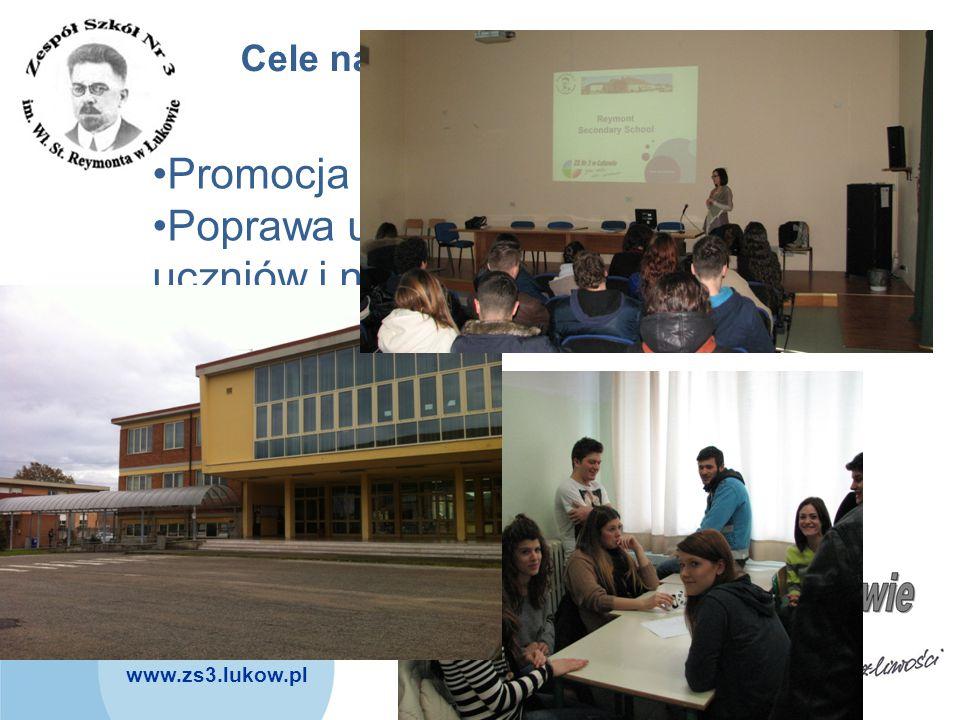 www.zs3.lukow.pl Company LOGO Cele naszego projektu: Promocja regionów Poprawa umiejętności językowych uczniów i nauczycieli Rozwijanie kompetencji ko