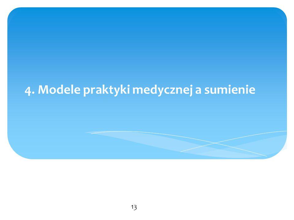 4. Modele praktyki medycznej a sumienie 13