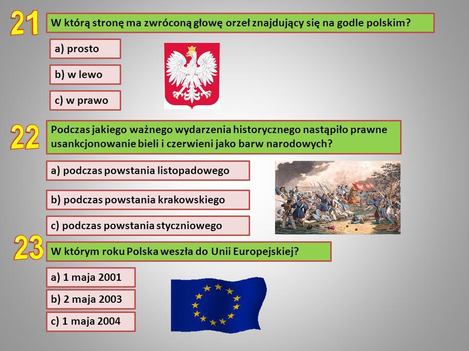 Podczas jakiego ważnego wydarzenia historycznego nastąpiło prawne usankcjonowanie bieli i czerwieni jako barw narodowych? a) podczas powstania listopa