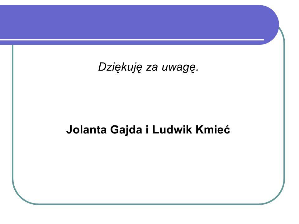 Dziękuję za uwagę. Jolanta Gajda i Ludwik Kmieć