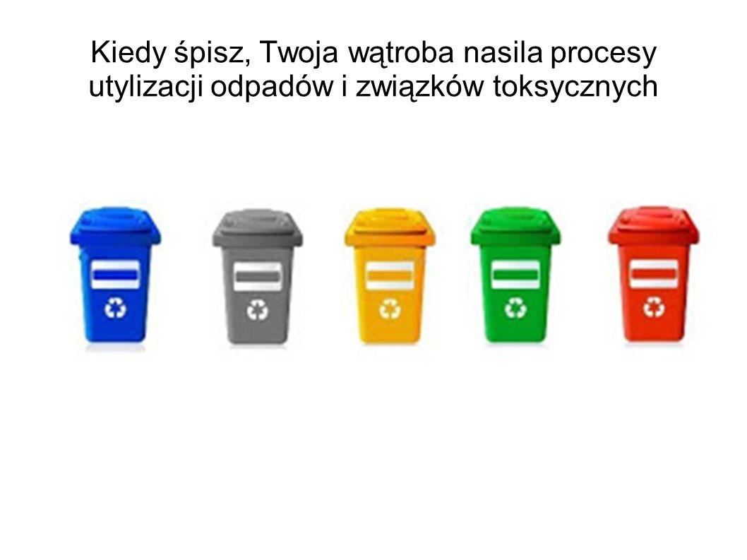 Kiedy śpisz, Twoja wątroba nasila procesy utylizacji odpadów i związków toksycznych