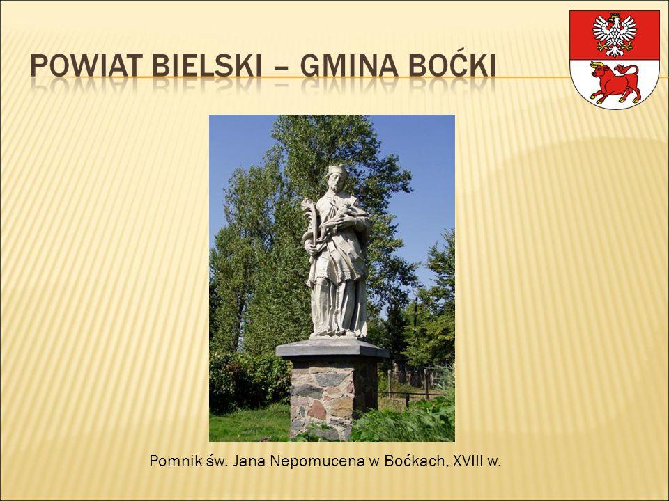 Pomnik św. Jana Nepomucena w Boćkach, XVIII w.