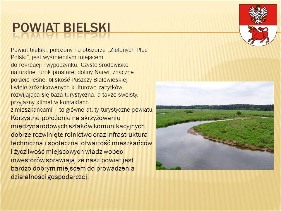 """Powiat bielski, położony na obszarze """"Zielonych Płuc Polski"""", jest wyśmienitym miejscem do rekreacji i wypoczynku. Czyste środowisko naturalne, urok p"""