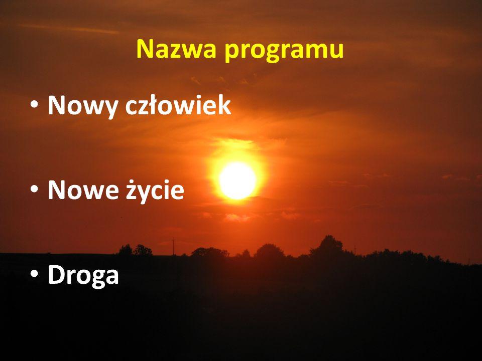 Nazwa programu Nowy człowiek Nowe życie Droga