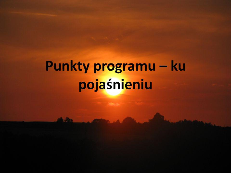 Punkty programu – ku pojaśnieniu