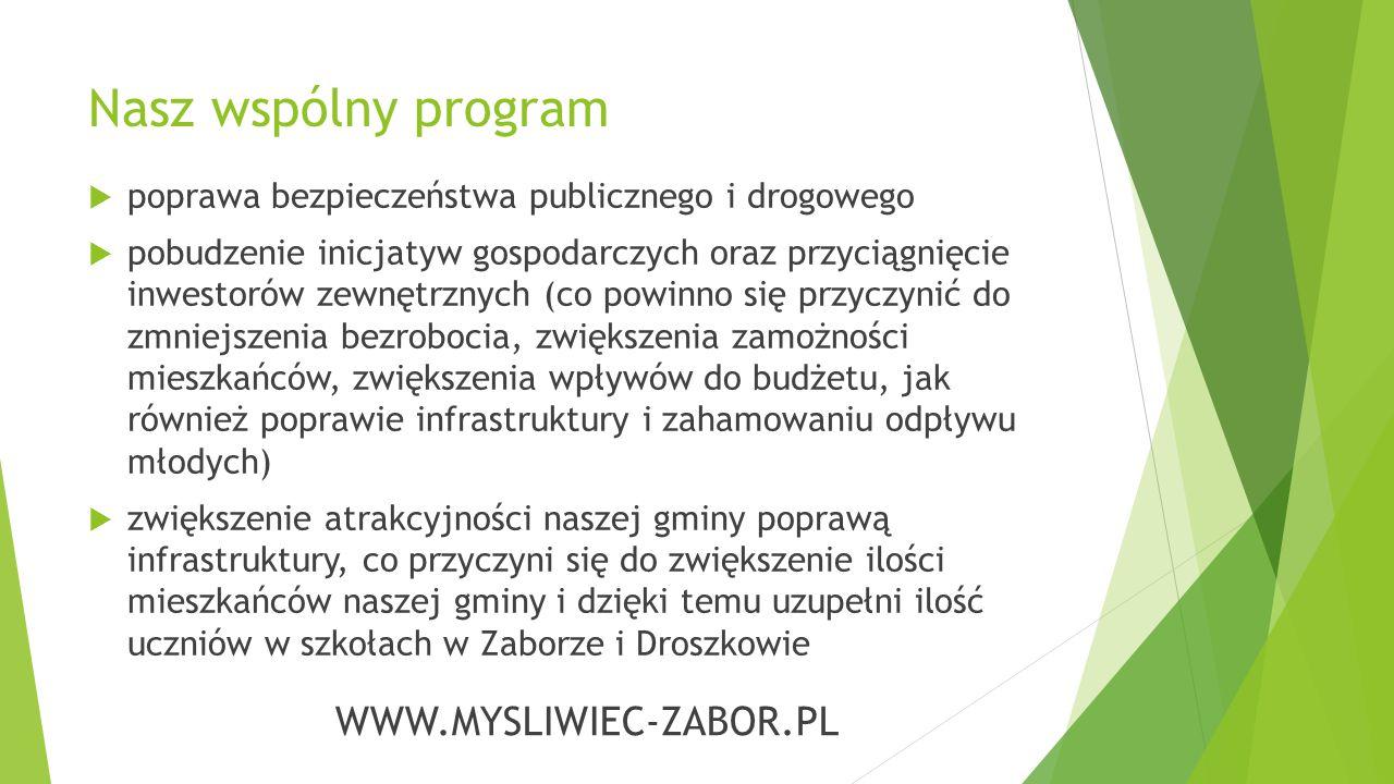 Zapraszamy do odwiedzenia naszej strony internetowej: WWW.MYSLIWIEC-ZABOR.PL