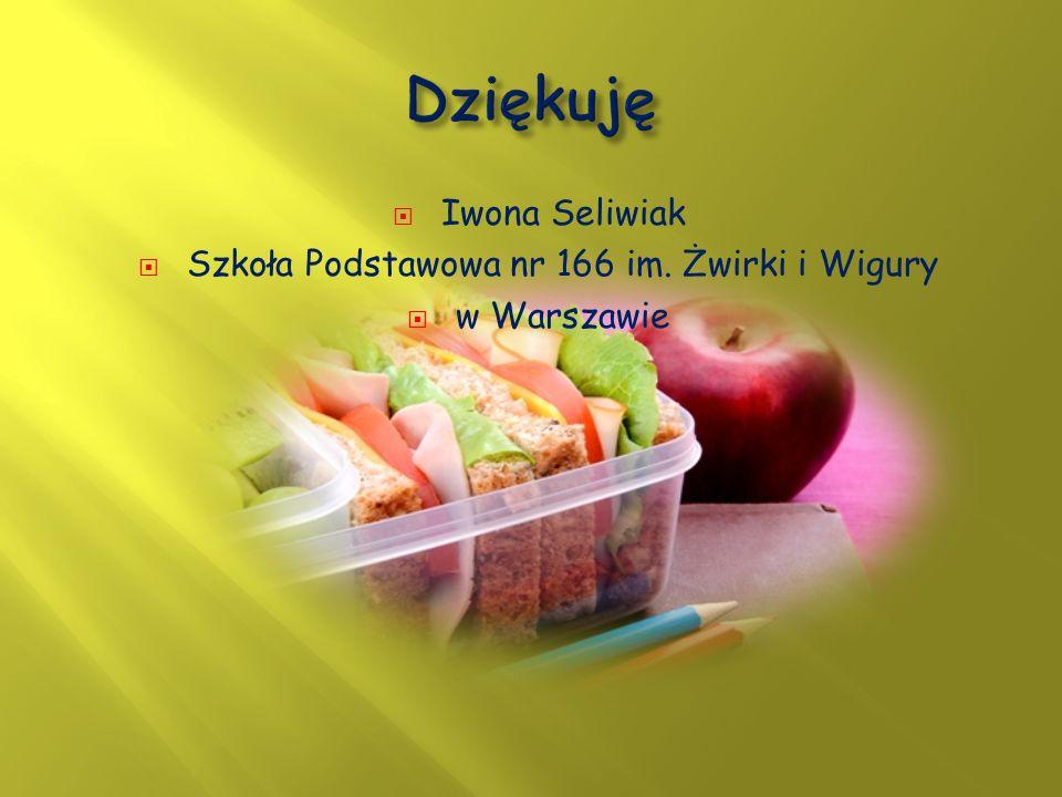  Iwona Seliwiak  Szkoła Podstawowa nr 166 im. Żwirki i Wigury  w Warszawie