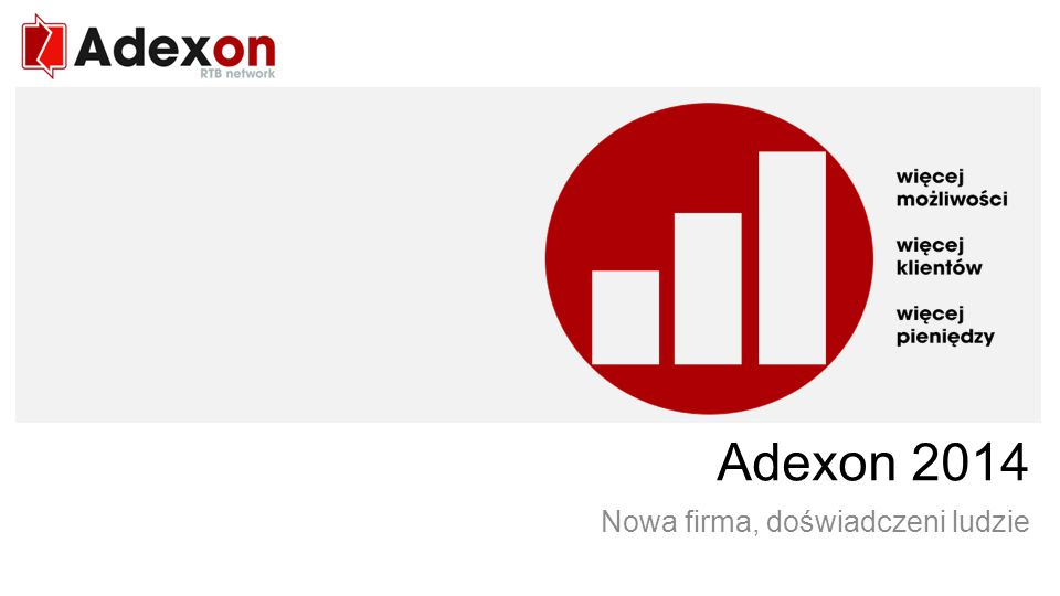 RTB network Agata Adamiec Publisher Services manager agata.adamiec@adexon.pl tel.