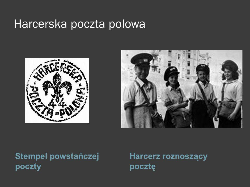 Harcerska poczta polowa Stempel powstańczej poczty Harcerz roznoszący pocztę ; kk