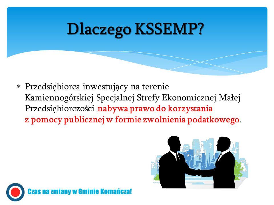  Przedsiębiorca inwestujący na terenie Kamiennogórskiej Specjalnej Strefy Ekonomicznej Małej Przedsiębiorczości nabywa prawo do korzystania z pomocy publicznej w formie zwolnienia podatkowego.