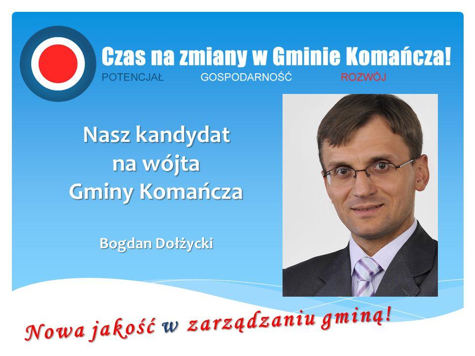 Nasz kandydat na wójta Gminy Komańcza Bogdan Dołżycki Nowa jakość w zarządzaniu gminą!