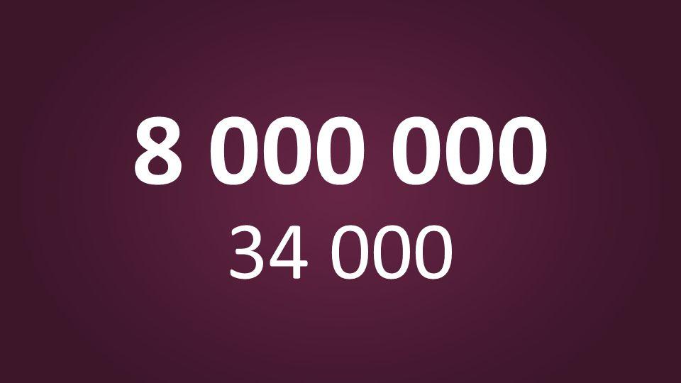 8 000 000 34 000