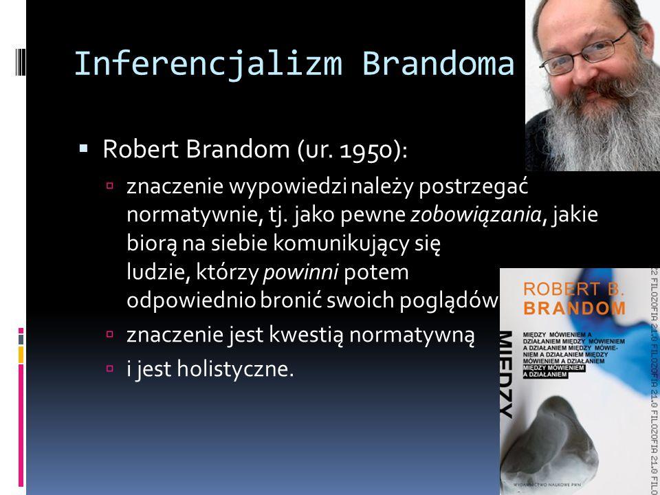 Inferencjalizm Brandoma  Robert Brandom (ur.