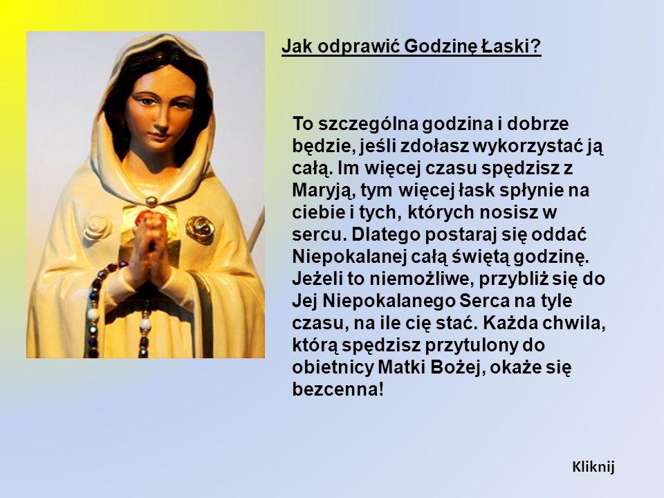 Jest jeszcze ostatnia grupka - modlących się o nawrócenie grzeszników, o ocalenie dusz idących do piekła. To ludzie najcenniejsi w oczach Maryi. To Je