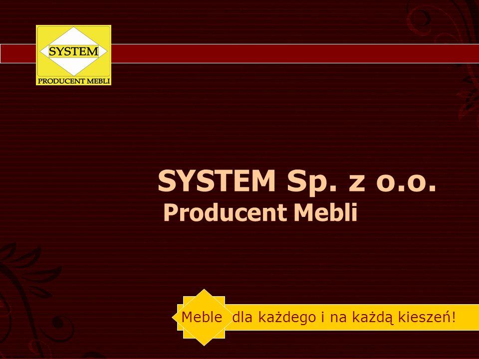 SYSTEM Sp. z o.o. Producent Mebli Meble dla każdego i na każdą kieszeń!