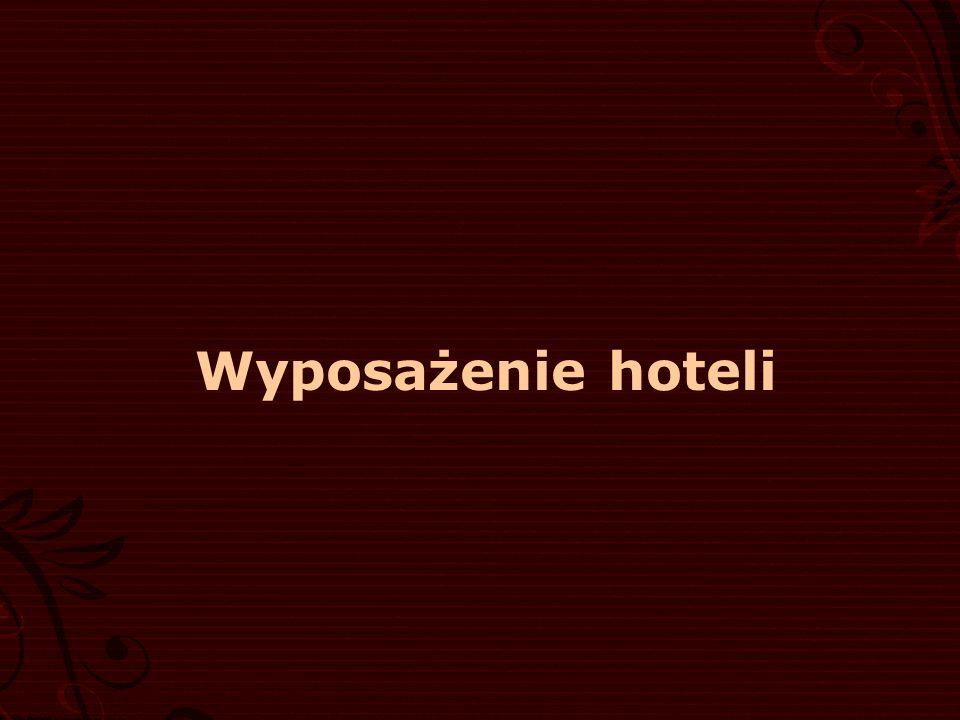 Wyposażenie hoteli
