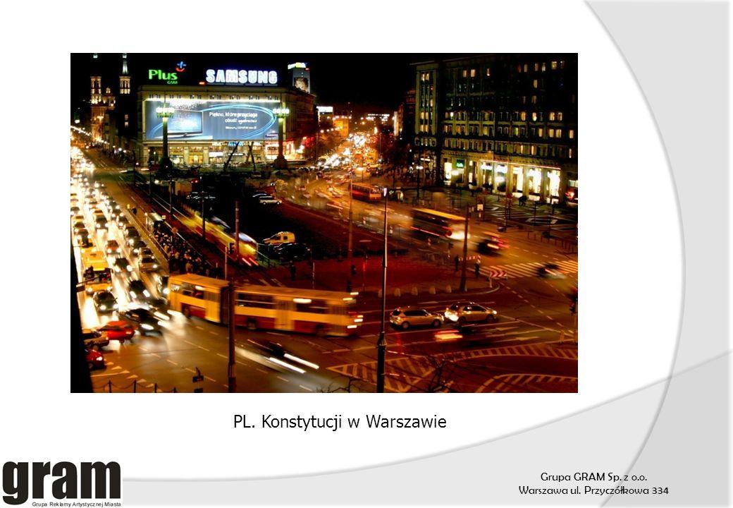 Grupa GRAM Sp. z o.o. Warszawa ul. Przyczółkowa 334 PL. Konstytucji w Warszawie