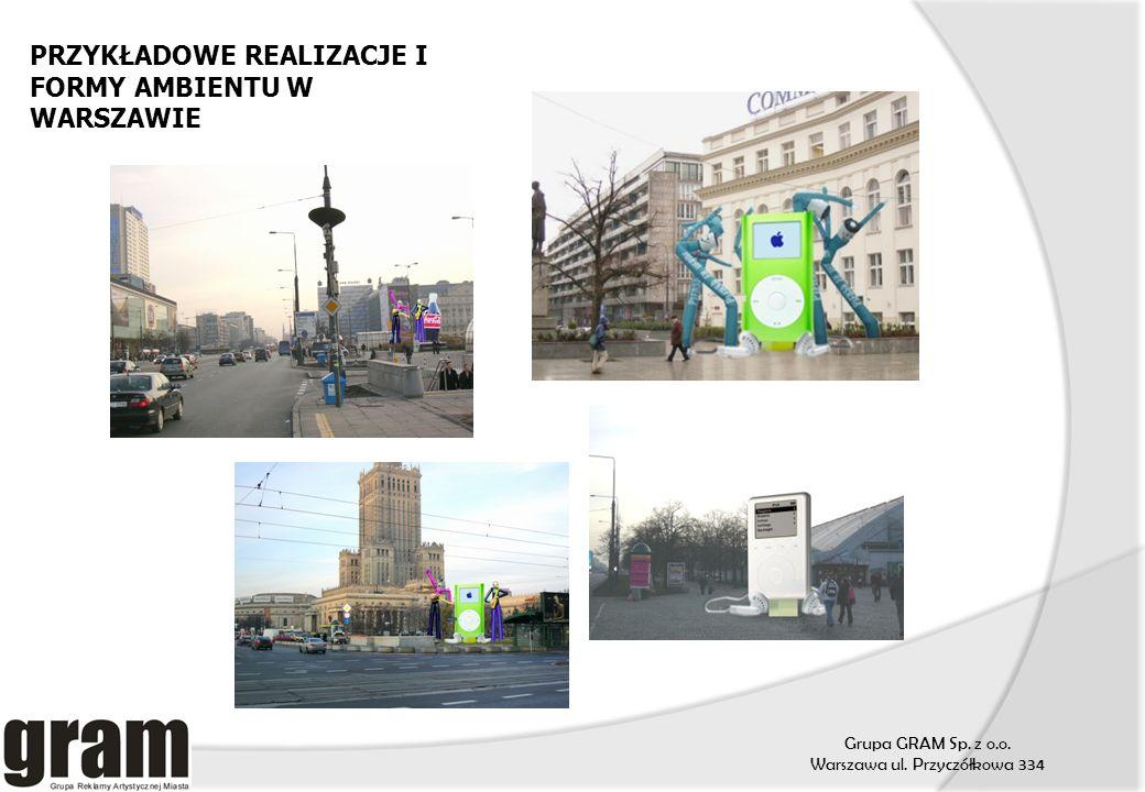 Grupa GRAM Sp. z o.o. Warszawa ul. Przyczółkowa 334 PRZYKŁADOWE REALIZACJE I FORMY AMBIENTU W WARSZAWIE