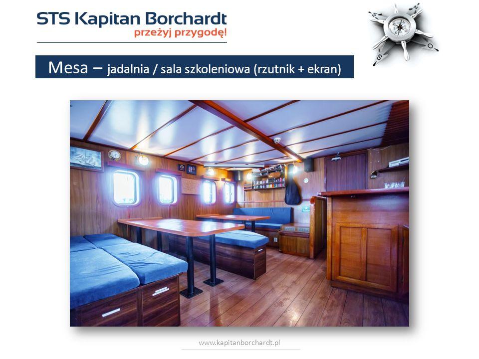 www.kapitanborchardt.pl Mesa – jadalnia / sala szkoleniowa (rzutnik + ekran)