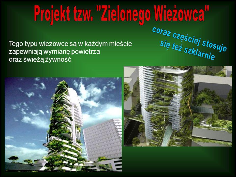 Tego typu wieżowce są w każdym mieście zapewniają wymianę powietrza oraz świeżą żywność