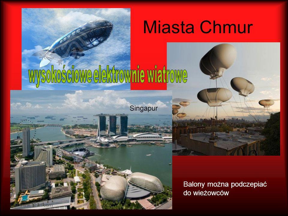 Miasta Chmur Singapur Balony można podczepiać do wieżowców