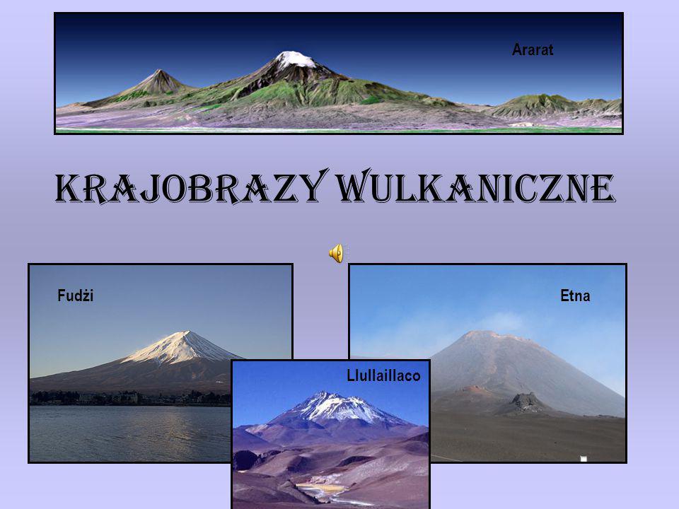 Krajobrazy wulkaniczne EtnaFudżi Ararat Llullaillaco