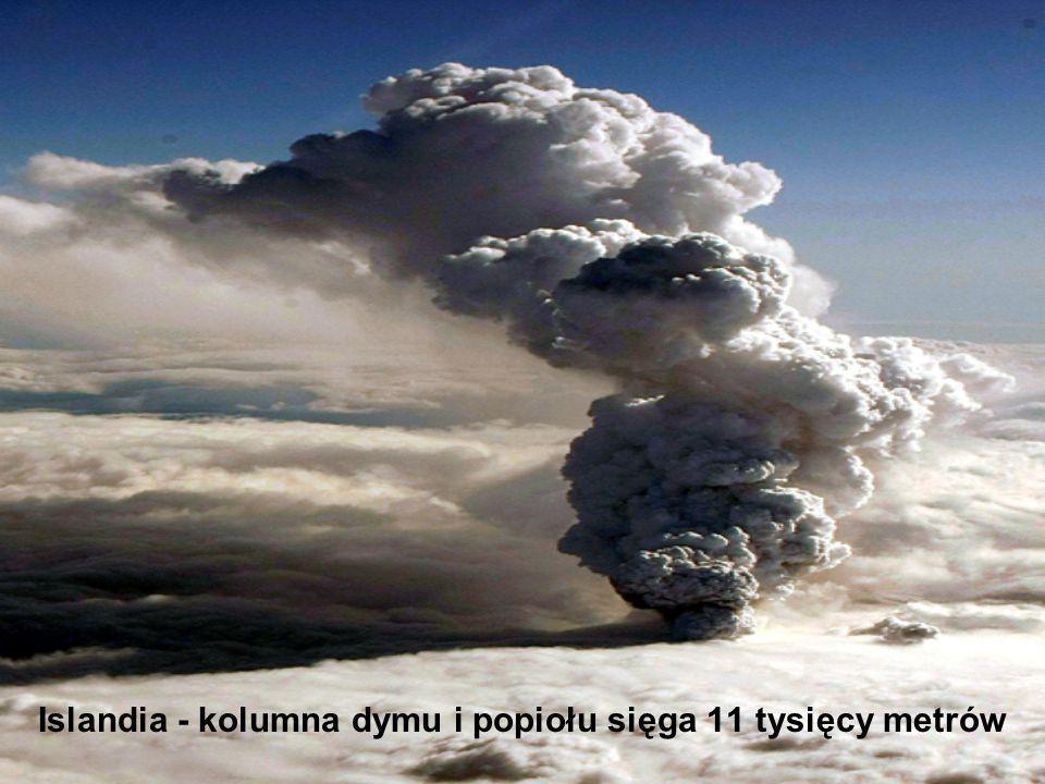 Islandia - kolumna dymu i popiołu sięga 11 tysięcy metrów