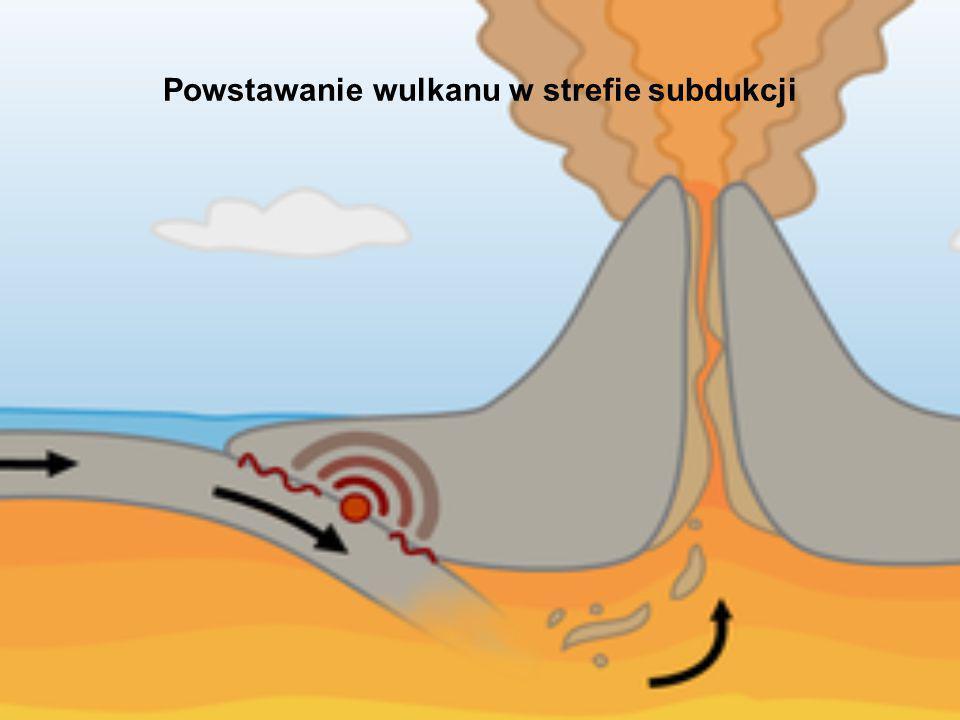 Powstawanie wulkanu w strefie subdukcji