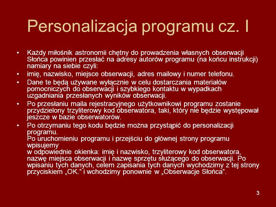 3 Personalizacja programu cz.