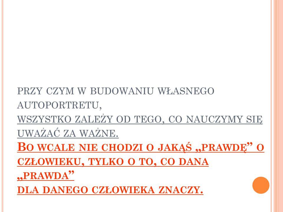 T YMCZASEM TWOJA SAMOOCENA MUSI POCHODZIĆ OD CIEBIE !!.