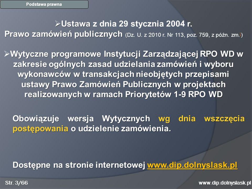 www.dip.dolnyslask.pl Dobry przykład zapytania / 1 Str. 14/66